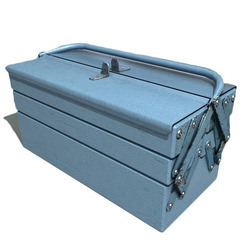 Blue Mild Steel 5 Compartment Tool Box For Storage