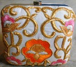 Zari Embroidery Clutch
