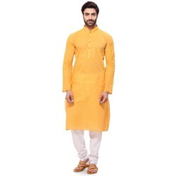 casual Cotton Handloom Mens Kurta, Size/Dimension: Large