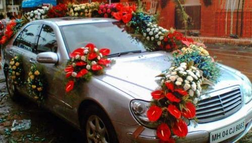 Wedding Car Decoration, Wedding Flower Decoration in Babu Colony ...