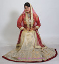 Bridal Organza with Zardozi and Hand Work Lehenga, Size: M-L