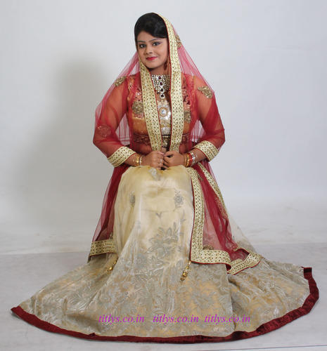 Ready Bridal Organza With Hand Work Lehenga