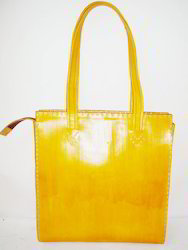 MB Exports Yellow Leather Bag