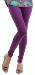 Purple Cotton Leggings