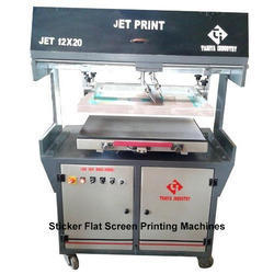 Label Sticker Flat Screen Printing Machine