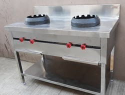 2 Burner Chinese Cooking Range