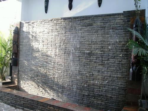 Multicolor Wall And Out Door. Decorative Outdoor Fountain