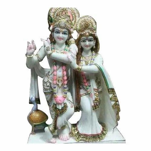 White Marble Radha Krishna Murti At Rs 15000 Piece