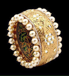 Kundan Polki Diamond Designer Bangle