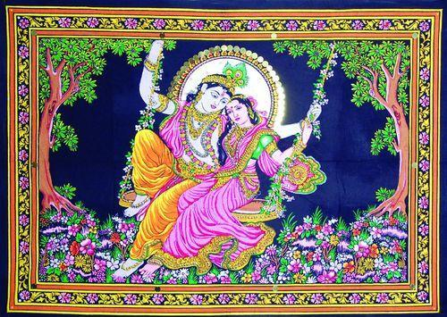 Tapestry Home Decor Radha Krishna Wall Hanging Tapestry In