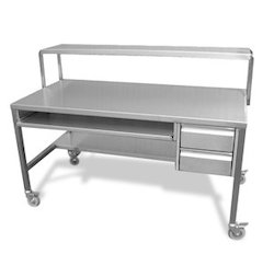 Stainless Steel Computer Table