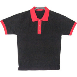 Mens Black Collar T-Shirt