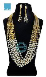 Pearl Beaded Necklace Mala Set