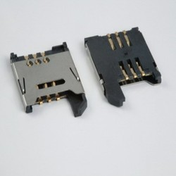 SIM Card Holder 6 Pin with Lock In Metal Body