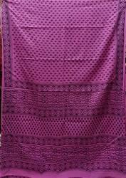 Cotton Printed Pink Saree