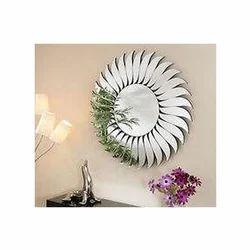 叶子现代镜子,形状:圆形