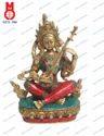Nepali Stone Work Saraswati Sitting Statue