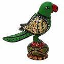 Wooden Parrot Round Pavati Wp057