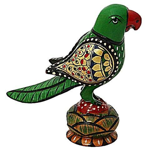 Wooden Parrot Round Pavati Wp057