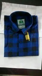 Men Cotton Check Long Sleeve Shirt
