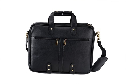 Leatherette Black Laptop Bag