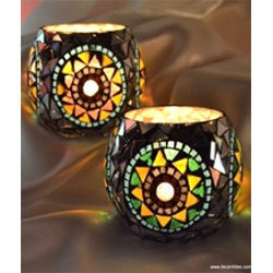 Mosaic Candle Votive Holders