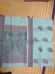 Peacock Embroidery Cotton Sarees