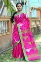 Silk cotton Jamdani saree