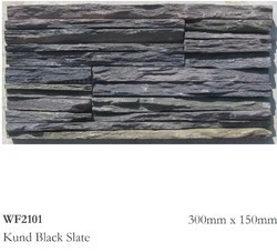 Kund Black Slate Stone, Thickness: 20 Mm, for Kitchen Top