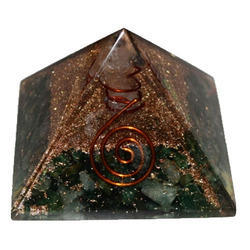 Orgone Pyramid Of Green Aventurane With Base 6cm