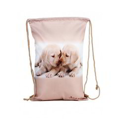 Puppy Printed Drawstring Bags
