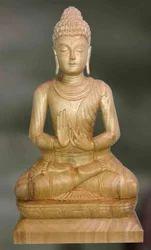 Buddha-Samyaksam Wooden Sculpture