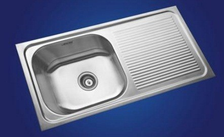 Neelkanth Kitchen Sinks, Gloss Finish, Nk Sbsd19 G/m - Atlantic Tile ...