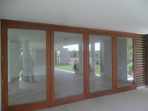 Wooden Frame Glass Door Sliding Folding Jashvantlal
