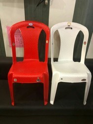 Red, White 3D Armless Chair, Size: Small, Medium