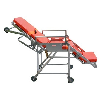 "Silver Ambulance Stretcher cum Wheel Chair, Model Name/Number: NST-376C, Size: 72""x22""x34"""