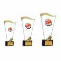 Crystal Golden Wave Trophy