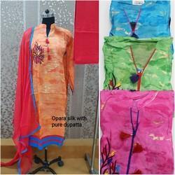 Opqra Silk Designer Suit
