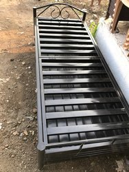 Metal single  Bed with storage