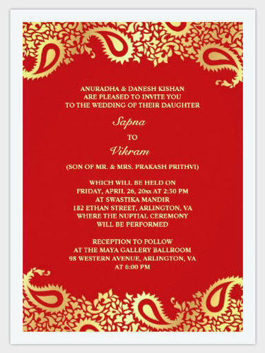 Printed invitation card at rs 5 pieces anniversary invitation printed invitation card stopboris Images
