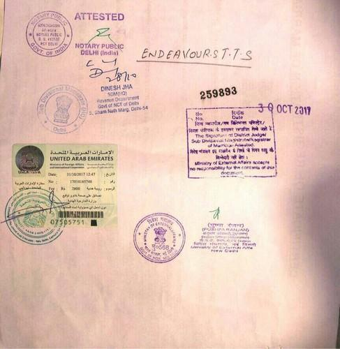 Marriage Certificate Attestation From Uae Embassy Consulate In