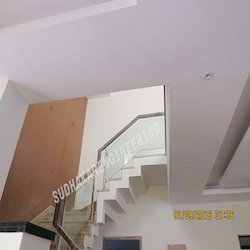 Indoor SS Railing With Glass