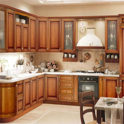 Prefab Granite Countertops Near Me : ... Granite Countertop Cream Classic Cabinet Wooden Dining Table White