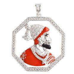 925 Sterling Silver Shivaji Maharaj Pendant