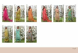 Ganga muslin digital printed suits