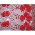 Net Red Embroidery Fabric