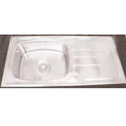 Parryware Stainless Steel Single Bowl Sink With Drain Board