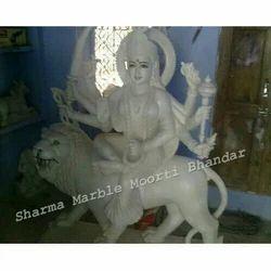 Durga Ji White Marble Statue