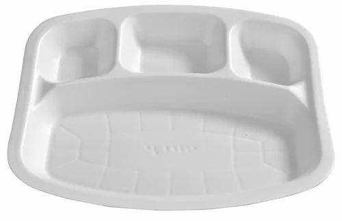 Disposable 4 Compartment Plate  sc 1 st  IndiaMART & Disposable 4 Compartment Plate Disposable Products   Narela ...