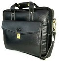 Black & Brown Pure Leather Conference Leather Bags